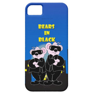 BEARS IN BLACK iPhone SE + iPhone 5/  Barely There Case For The iPhone 5