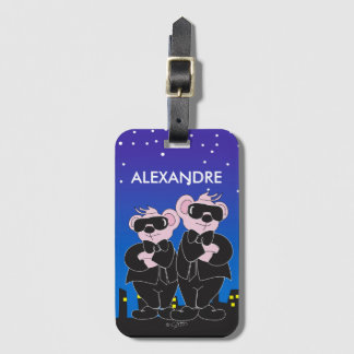 BEARS IN BLACK Luggage Tag with Business Card Sl 3