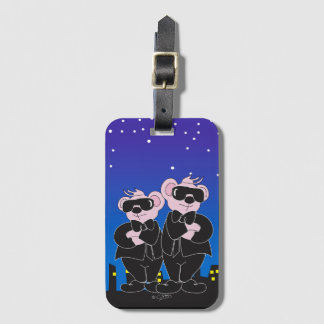 BEARS IN BLACK Luggage Tag with Business Card Slot