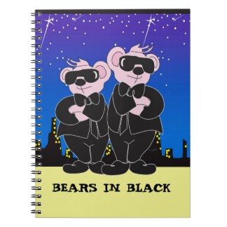 BEARS IN BLACK Photo Notebook (80 Pages B&W) 2