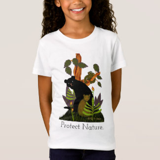 Bears in jungle: imaginary forest painting T-Shirt