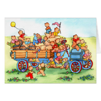 Bears in Old Hillbilly Truck - Greeting Card