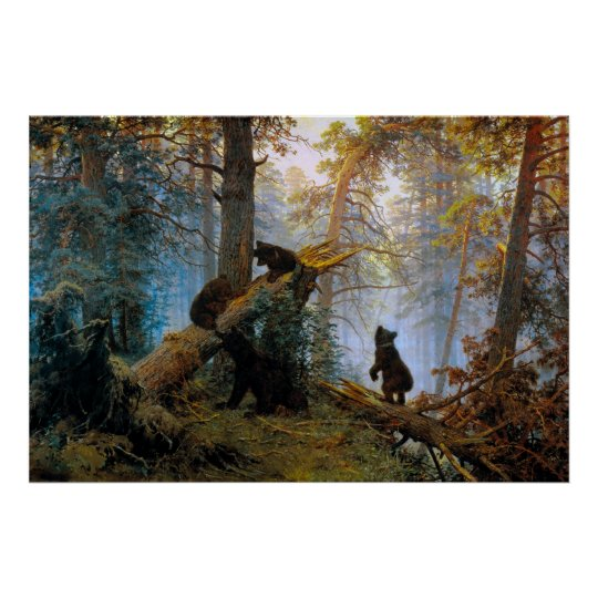 Bears in the Forest Poster