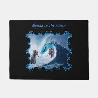 Bears in the ocean Doormat. Doormat