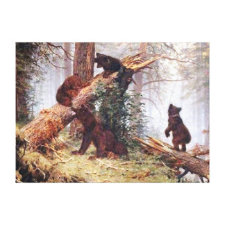 Bears in the Woods Canvas Print