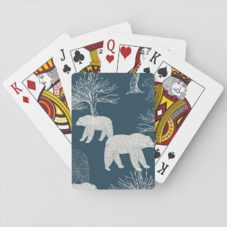 Bears in Woods Illustration Playing Cards