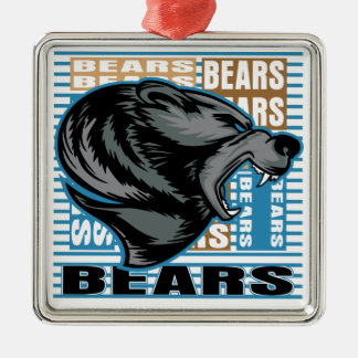Bears Metal Ornament