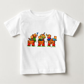 Bears on a Train Baby Shirt