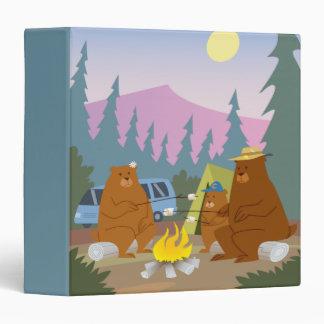 bears roasting marshmallows notebook vinyl binder