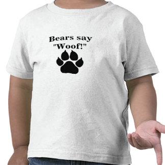 Bears say woof! t-shirt
