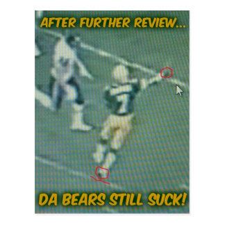 "Bears Still Suck ""The Throw"" postcard"