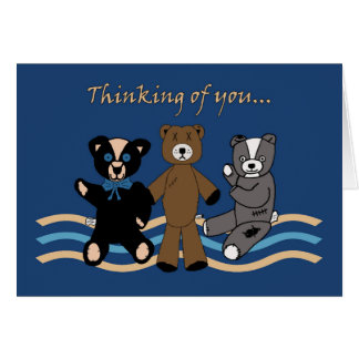 Bears Thinking of You Greeting Card