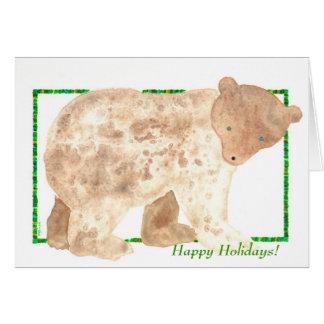 Bears Tommy TinyBrownBear Holiday Card