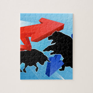 Bears Versus Bulls Stock Market Concept Jigsaw Puzzle