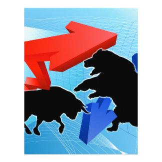 Bears Versus Bulls Stock Market Concept Letterhead