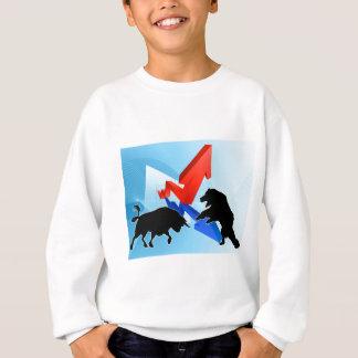 Bears Versus Bulls Stock Market Concept Sweatshirt