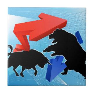 Bears Versus Bulls Stock Market Concept Tile