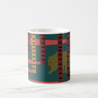 Bears walking in the woods coffee mug