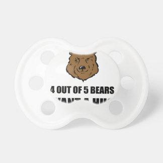 Bears Wants Hug Pacifiers