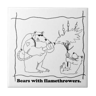 Bears with flamethrowers tile