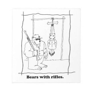 Bears with rifles notepad