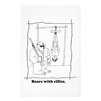 Bears with rifles stationery