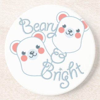 Beary & Bright Beverage Coaster