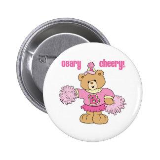 Beary Cheery Cheerleading Bear Buttons