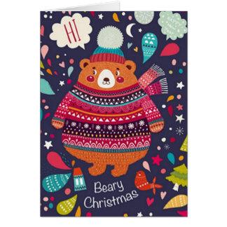 Beary Christmas Card! Card