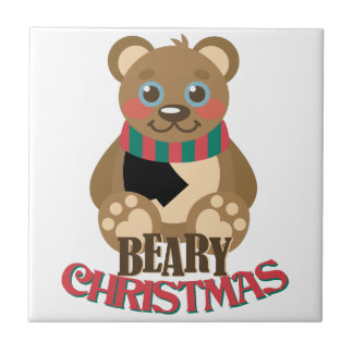 Beary Christmas Ceramic Tiles