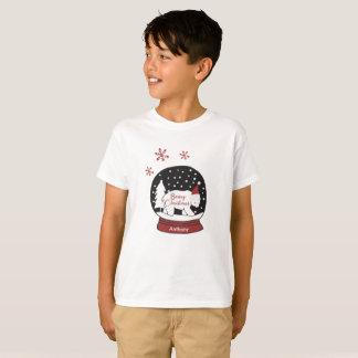 Beary Christmas Santa Hat Polar Bear T-Shirt