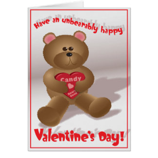 Beary Good Valentine - Greeting Card