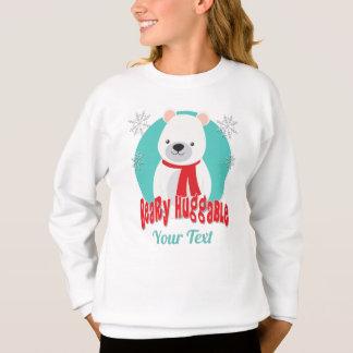 Beary Huggable Winter Christmas Bear Personalized Sweatshirt