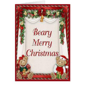 Beary Merry Christmas Card