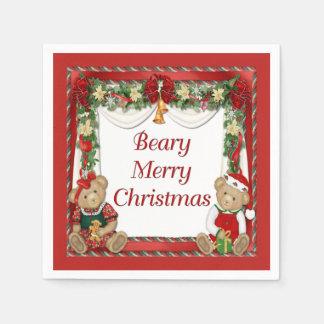 Beary Merry Christmas Disposable Napkin