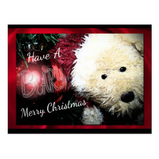 Beary Merry Christmas Postcards