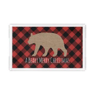 Beary Merry Christmas Tray