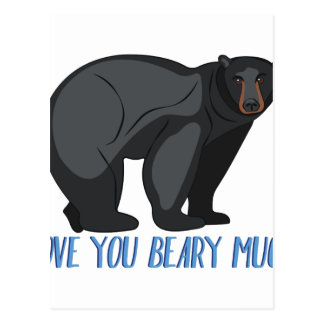 Beary Much Postcard
