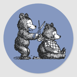 Beary Nice Hairdresser Classic Round Sticker