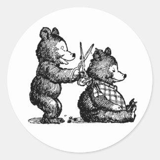 Beary Nice Hairdresser Round Sticker