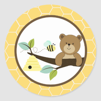 Beary Sweet Bear and Bee Envelope Seals 20