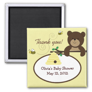 Beary Sweet Bear & Bee Baby Shower Favor Magnet