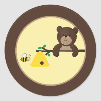 Beary Sweet Bear & Bee Envelope Seal Stickers
