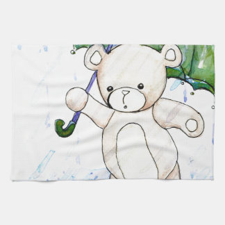 Beary wet teddy hand towels