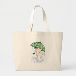 Beary wet teddy large tote bag