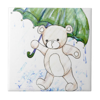 Beary wet teddy tile