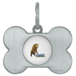 Bearzilla Pet Name Tag