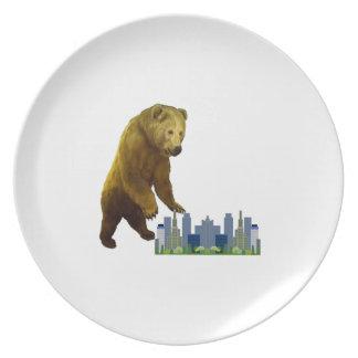 Bearzilla Plate