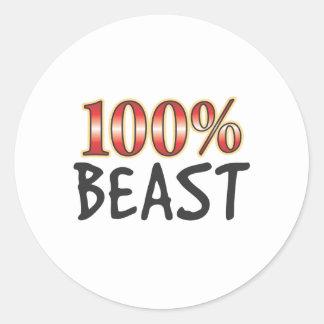 Beast 100 Percent Round Sticker