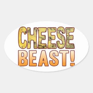 Beast Blue Cheese Oval Sticker